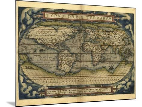 Ortelius's World Map, 1570-Library of Congress-Mounted Photographic Print