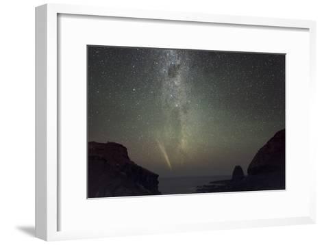 Comet Lovejoy And the Milky Way-Alex Cherney-Framed Art Print