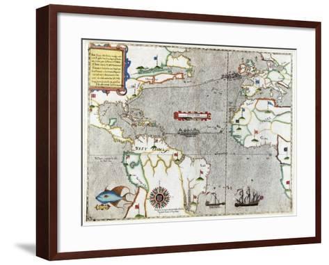 Sir Francis Drake's Voyage 1585-1586-Library of Congress-Framed Art Print