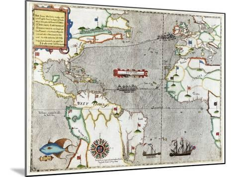 Sir Francis Drake's Voyage 1585-1586-Library of Congress-Mounted Photographic Print