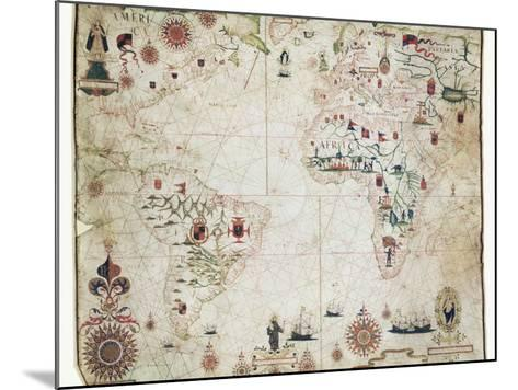 17th Century Nautical Map of the Atlantic-Library of Congress-Mounted Photographic Print