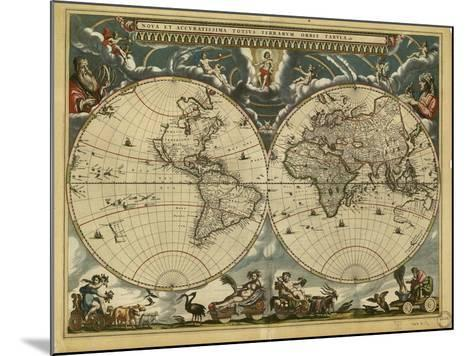 17th Century World Map-Library of Congress-Mounted Photographic Print