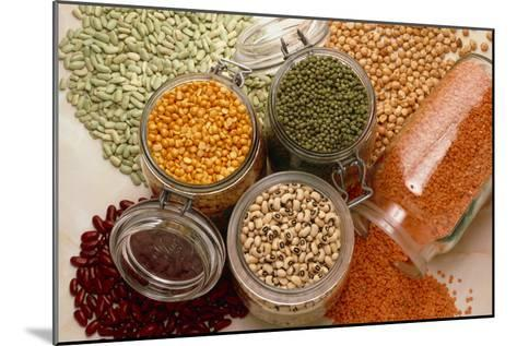 View of An Assortment of Beans And Pulses-Erika Craddock-Mounted Photographic Print