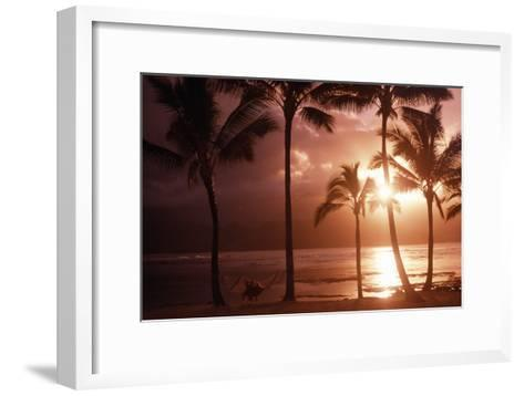 Beach At Sunset-Tony Craddock-Framed Art Print