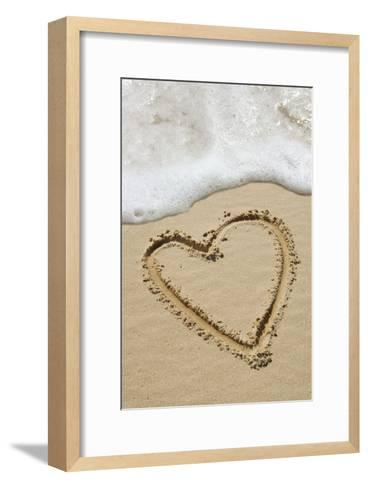 Heart-shape Drawn In Sand-Tony Craddock-Framed Art Print