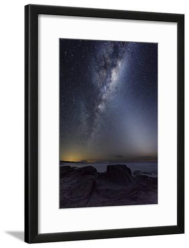 Milky Way Over Cape Otway, Australia-Alex Cherney-Framed Art Print