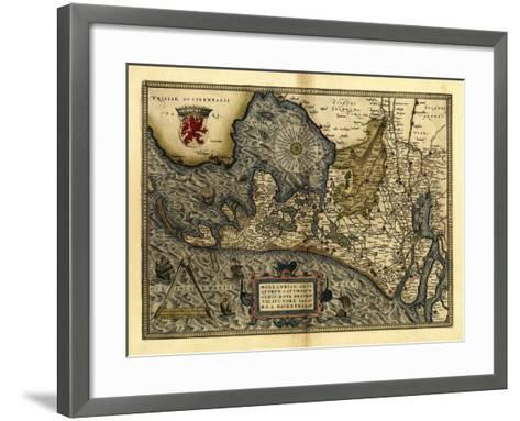 Ortelius's Map of Holland, 1570-Library of Congress-Framed Art Print