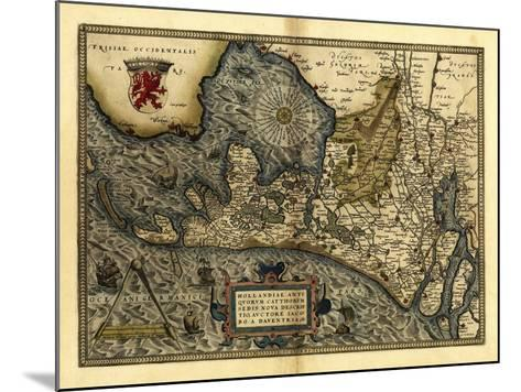 Ortelius's Map of Holland, 1570-Library of Congress-Mounted Photographic Print
