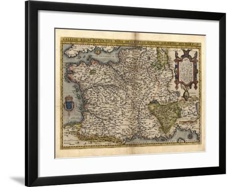 Ortelius's Map of France, 1570-Library of Congress-Framed Art Print