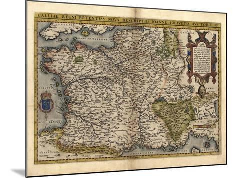 Ortelius's Map of France, 1570-Library of Congress-Mounted Photographic Print