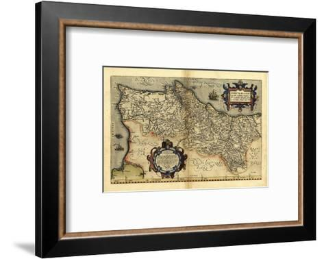 Ortelius's Map of Portugal, 1570-Library of Congress-Framed Art Print