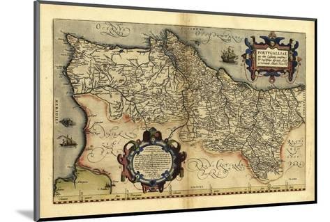 Ortelius's Map of Portugal, 1570-Library of Congress-Mounted Photographic Print