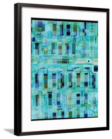 Abstract Image of a Circuit Board.-Tony Craddock-Framed Art Print