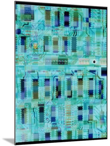 Abstract Image of a Circuit Board.-Tony Craddock-Mounted Photographic Print