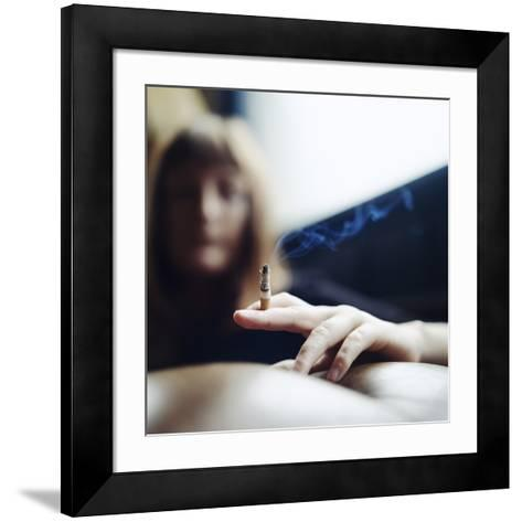Woman Smoking-Cristina-Framed Art Print