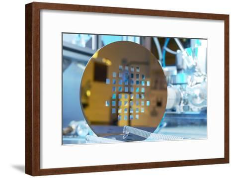 MEMS Production, Machined Silicon Wafer-Colin Cuthbert-Framed Art Print