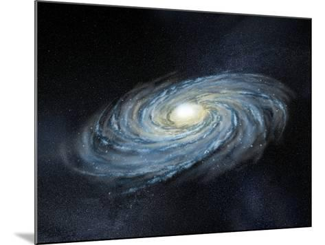 Milky Way Galaxy, Artwork-Henning Dalhoff-Mounted Photographic Print