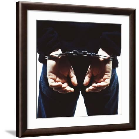 Handcuffed Hands-Kevin Curtis-Framed Art Print