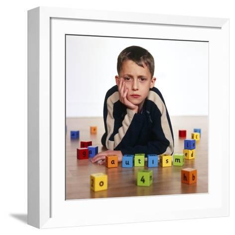 Autistic Boy-Kevin Curtis-Framed Art Print