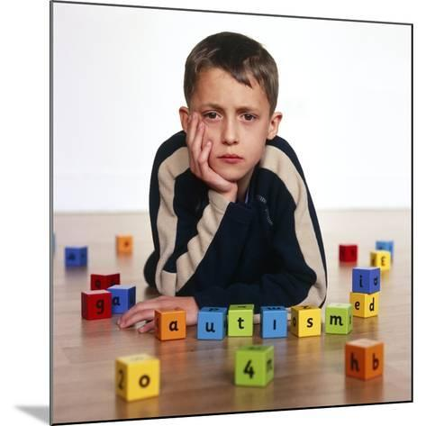Autistic Boy-Kevin Curtis-Mounted Photographic Print