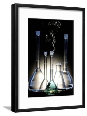 Glass Flasks-Crown-Framed Art Print