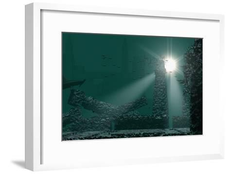 Underwater Atlantis-Christian Darkin-Framed Art Print