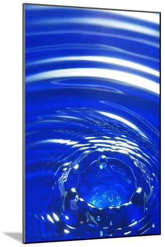 Water Drop Impact, High-speed Photograph-Crown-Mounted Photographic Print