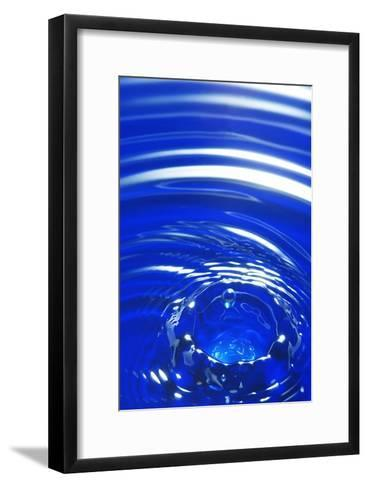 Water Drop Impact, High-speed Photograph-Crown-Framed Art Print