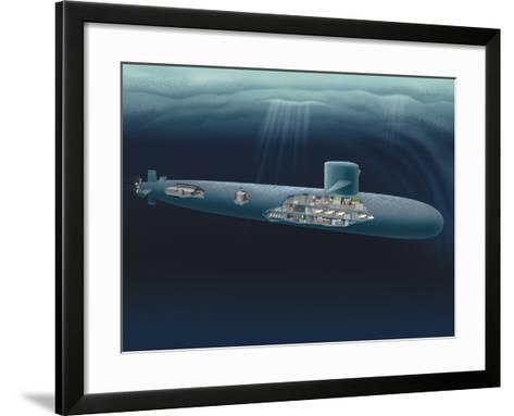 Research Submarine-Henning Dalhoff-Framed Art Print