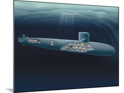 Research Submarine-Henning Dalhoff-Mounted Photographic Print