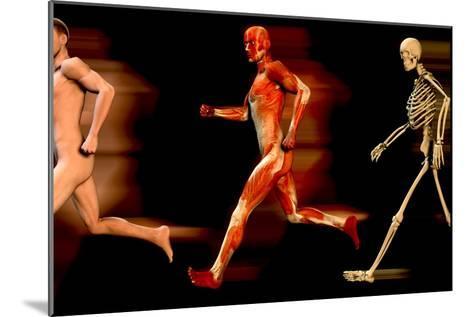 Running Man-Christian Darkin-Mounted Photographic Print