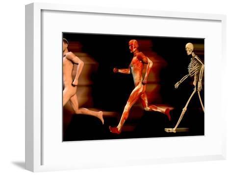 Running Man-Christian Darkin-Framed Art Print