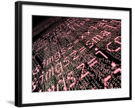 Internet Computer Code-Christian Darkin-Framed Art Print