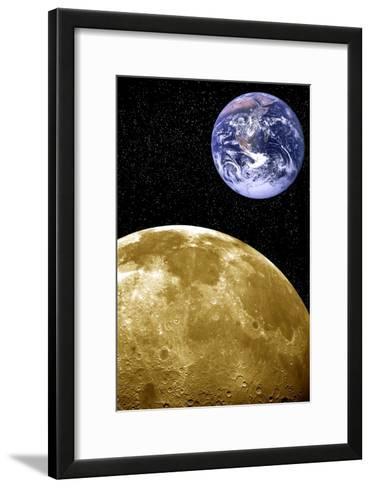 Moon And Earth, Artwork-Victor De Schwanberg-Framed Art Print