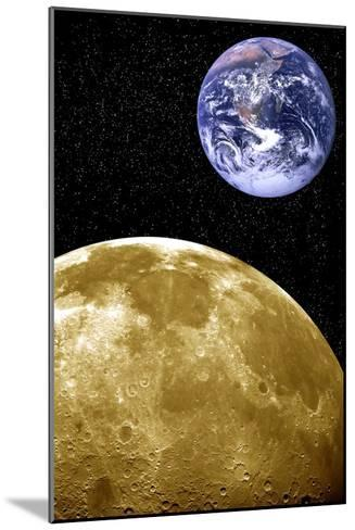 Moon And Earth, Artwork-Victor De Schwanberg-Mounted Photographic Print