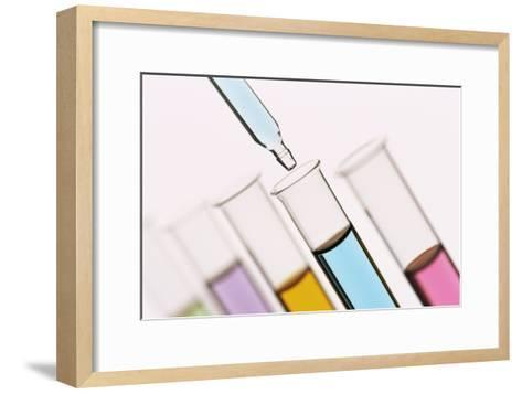 Pipetting Liquid Into Test Tubes-Kevin Curtis-Framed Art Print