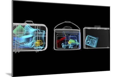 Baggage Surveillance, Simulated X-ray-Christian Darkin-Mounted Photographic Print