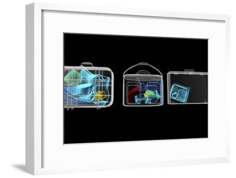 Baggage Surveillance, Simulated X-ray-Christian Darkin-Framed Art Print