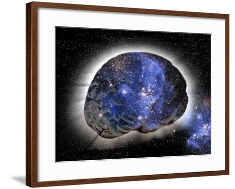 Cosmic Consciousness, Conceptual Artwork-Victor De Schwanberg-Framed Art Print