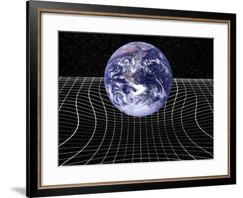 Warped Space-time Due To Gravity-Victor De Schwanberg-Framed Art Print