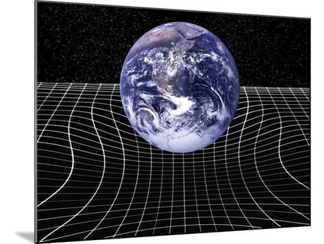 Warped Space-time Due To Gravity-Victor De Schwanberg-Mounted Photographic Print