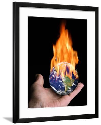 Global Warming, Conceptual Artwork-Victor De Schwanberg-Framed Art Print