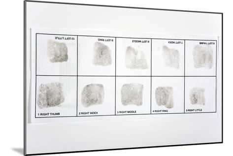 Fingerprint Record Card-Victor De Schwanberg-Mounted Photographic Print