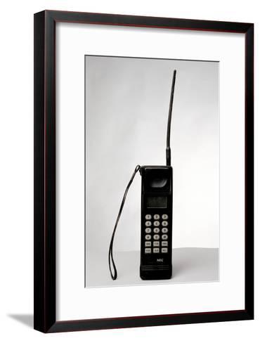 Early Mobile Phone-Victor De Schwanberg-Framed Art Print