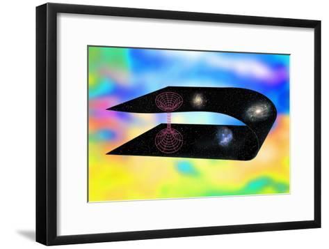 Wormhole Through Hyperspace, Artwork-Victor De Schwanberg-Framed Art Print