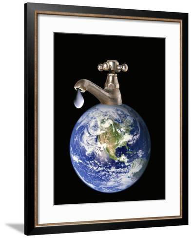 Water Conservation, Conceptual Image-Victor De Schwanberg-Framed Art Print