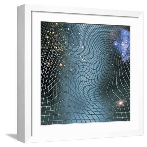 Gravity Waves In Space-time, Artwork-Victor De Schwanberg-Framed Art Print
