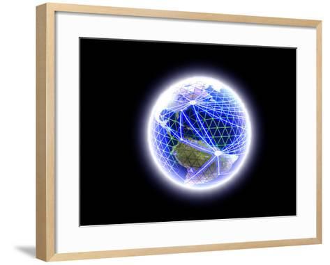 Worldwide Communication-Christian Darkin-Framed Art Print