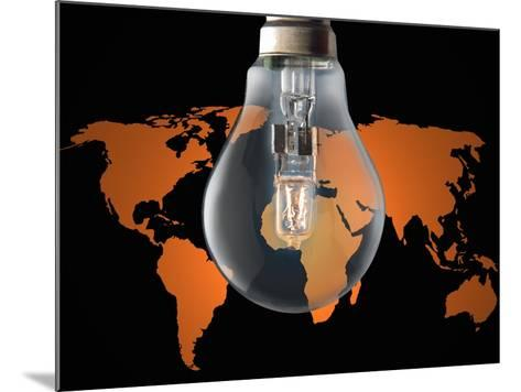 Global Energy Consumption-Victor De Schwanberg-Mounted Photographic Print