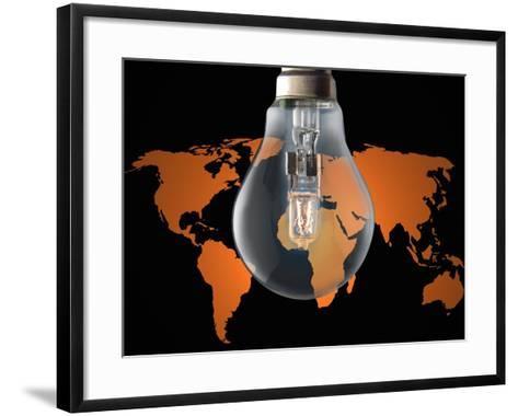 Global Energy Consumption-Victor De Schwanberg-Framed Art Print